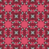 Red vector seamless patterns, tiling. Geometric ornaments. Stock Image