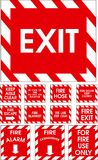 Red vector signs. On white background Royalty Free Stock Image