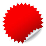 Red vector sticker Stock Photography
