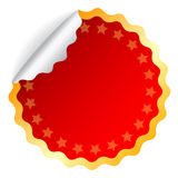 Red vector sticker Stock Image