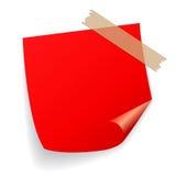 Red vector sticker Stock Photos