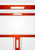 Red vector tech abstract background Royalty Free Stock Images