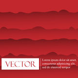 Red vector Template Abstract background with curves lines Royalty Free Stock Image