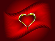 A red vector valentines background Stock Images