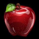 Red vector volume apple closeup, natural image Royalty Free Stock Photos