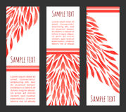 Red. Vector watercolor banners with red flame for modern design Stock Images