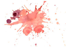 Red vector  Watercolor splashes Royalty Free Stock Photo
