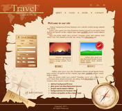 Red Vector Web site for travel agency stock illustration
