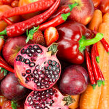 Red vegetable and fruit Royalty Free Stock Photos