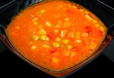 Red vegetable soup Royalty Free Stock Photo