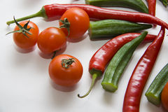 Red vegetables composition Stock Photo