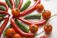 Red vegetables composition Royalty Free Stock Images