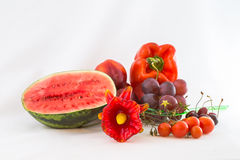 Red Vegetables and Fruit, Isolated Stock Photography