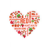 Red vegetables and fruits Royalty Free Stock Photo