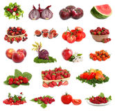 Red vegetarian collection Stock Photo