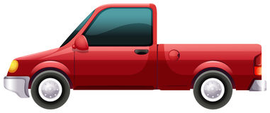 A red vehicle Stock Image