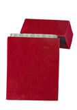 Red velour box Royalty Free Stock Images