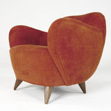 Red Velour Modern Arm Chair Royalty Free Stock Photos