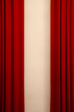 Red velours curtain Stock Images