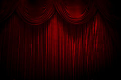 Red velvet. Theater courtains Stock Image