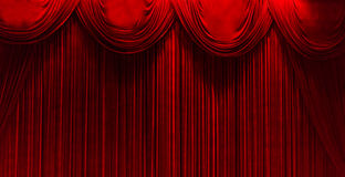 Red velvet. Theater stage with red velvet Royalty Free Stock Photo