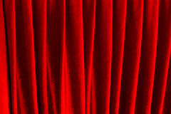 Red velvet as abstract background. Stock Images