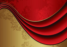 Red velvet background. Red and gold velvet background for your business artwork Stock Photography