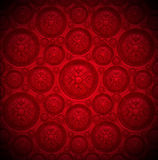 Red Velvet Background with Classic Ornament Royalty Free Stock Photography