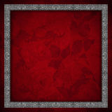 Red Velvet Background - Roses Flowers Royalty Free Stock Image