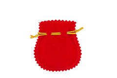 Red velvet bag Royalty Free Stock Image