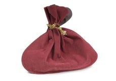 Red velvet bag Royalty Free Stock Images