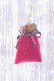 Red velvet bag Royalty Free Stock Photos