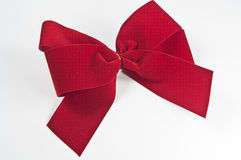 Red velvet bow Stock Images