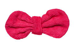 Red velvet bow Stock Image
