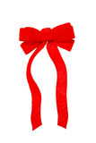 Red Velvet Bow. Isolated on a White Background Royalty Free Stock Photos