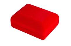Red velvet box Stock Image