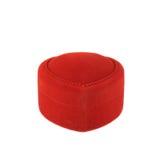 Red velvet box isolated Stock Photos