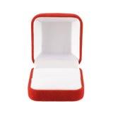 Red velvet box isolated Stock Images