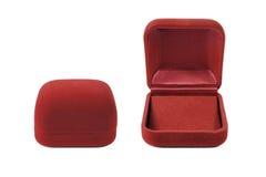 Red velvet box money red velvet Royalty Free Stock Images