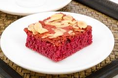 Red velvet brownie Stock Photography