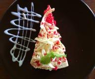 Red Velvet Butter cake Royalty Free Stock Photography