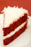 Red Velvet Cake. With coconut on white plate Stock Photography