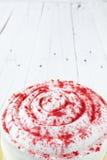 Red velvet cake from above Stock Photo