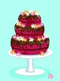 Red velvet cake card Stock Image