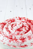 Red velvet cake close up Royalty Free Stock Photography