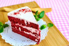 Red velvet cake Royalty Free Stock Images