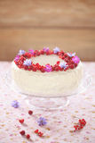 Red Velvet Cake with Cream Cheese Frosting Royalty Free Stock Photo