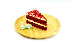 A red velvet cake and meringue Royalty Free Stock Photos