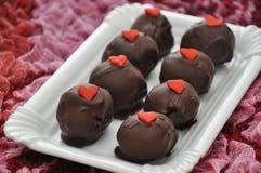Red Velvet Cake Pops. For Valentines Day Royalty Free Stock Images