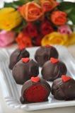 Red Velvet Cake Pops. For Valentines Day Royalty Free Stock Photo